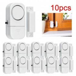 10pcs Alarme Sans Fil Sécurité à La Maison Cambrioleur De Porte De Fenêtre Blanc