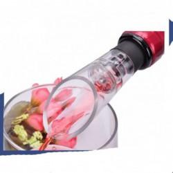 1pc Rouge Aérateur De Vin Bec Verseur Bouchon De Bouteille Decanter Pourer Aération