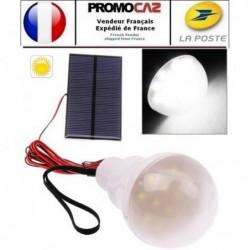 Kit Ampoule Led Avec Panneau Solaire (pour Exterieur)