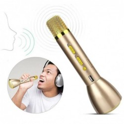 Or Xcool-art K088 Portable Mini Bluetooth Karaoke Player Microphone Portable Compatible Avec Apple Iphone Andr...
