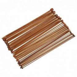 36pcs Et 18 Tailles Pour Un Paquet D'aiguilles A Tricoter Avec La Pointe Simale En Bambou Carbonise