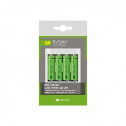 Gp Recyko+ Pro U411 Chargeur De Batterie Usb 8 H 4xaa-aaa Batteries Fournies : 4 X Type Aa Nimh 2000 Mah Sur L...