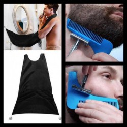 Kit Rasage Propre Peigne Barbe Tablier Barbe