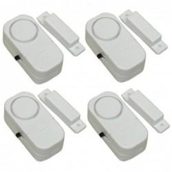 4 Mini Alarme Sonore Adhésive Pour Porte Fenêtre