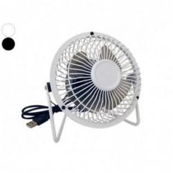 Ventilateur Blanc Inclinable Pour Port Usb Noir Accessoire Usb Gadget.
