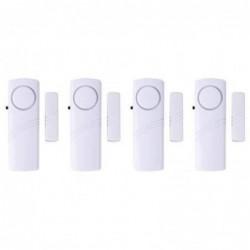 Jeu De 4 Alarme Capteur Detecteur Sans Fil Pour Porte Ou Fenetre 95db Adhesif