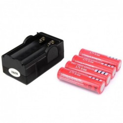 Chargeur Kit-4pcs 18650 4200mah Brc 3.7 V Rechargeable Li-ion Batterie + Chargeur 1pcs