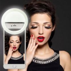 Usb-rechargeable Ring Flash Remplir Selfie Led Lumière Photographie Appareil Photo Pour Iphone