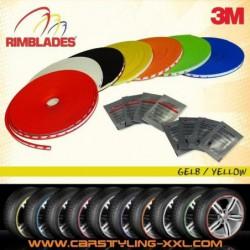 Nouveau - Rimblades Avec 3m Colle - Singlepack - Couleur: Jaune - Premium Protection Des Jantes Et Styling Pou...