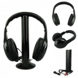 5 In 1 Wireless Headphone Casque Audio Sans Fil Ecouteur Hi-fi Radio Fm Tv Mp3 Mp4