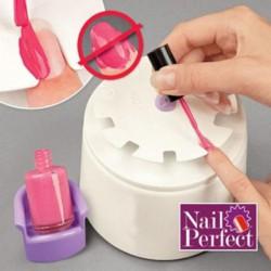 Outil Plastique Nail Perfect Polish Manucure Vernis à Ongles Nail Art Avec Stickers