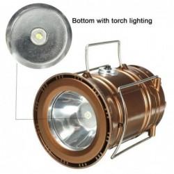 Eclairage D'appoint De Camping Lanterne Rechargeable Solaire Portable Usb Ultra-lumineux Lampe De Tente De Cam...