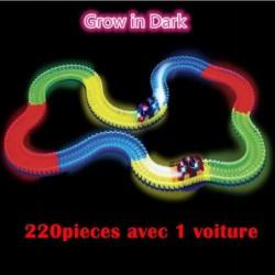 Dotopon®magic Circuit Magique Tracks Flexible Lumineux Phosphorescent 220 Pièces Incroyablement Amusantes Et...