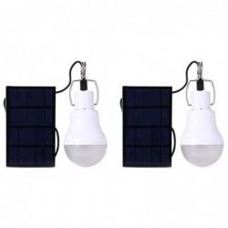 Powered Portable Ampoules Lumière Solaire S-1200 130lm Lampe Led Batterie 2 Pack