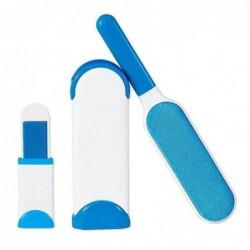 3pcs Kit De Brosse De Nettoyage De Poils D'animaux Bleu