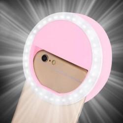 Lumière à Led Ronde Pour Téléphones Intelligents Lumière De Remplissage Portable Selfie Light 3 Couleurs ...