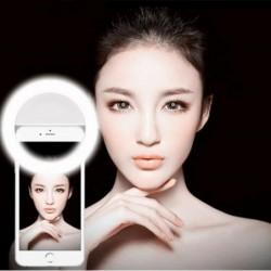 Selfie Beauté Caméra Téléphone Mobile A Conduit La Lumière Blanc