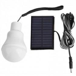 Lavent Lampe Solaire De Secours 3w Ampoule 12led Extérieure Camping Blanc