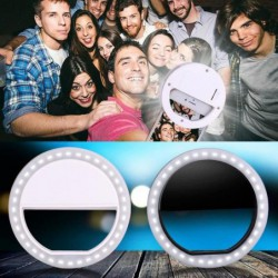 1pc Universel Luxueux Led Flash éclairer Selfie Téléphone Lumineux Ring