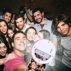 Photographie Lumière Selfie Led Light Up Ring Flash Lumineux Lumière 36 Led 3 Niveaux De Luminosité Clip Su...