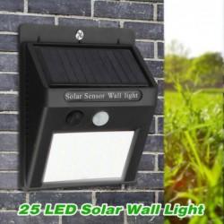 Lavent Applique Solaire 25led Exterieur Détecteur Mouvement Lumière Faible