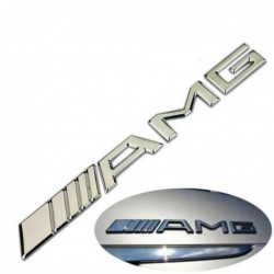 Logo Badge Embleme De Coffre Amg Chromé Mercedes-benz