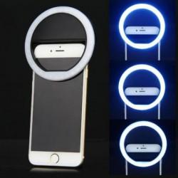 Noir Led Portable Selfie Anneau Flash Lumière