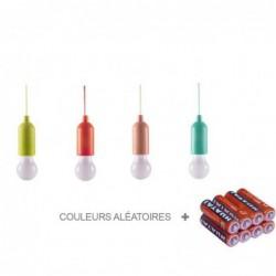 Lot De 4 Ampoules Astucieuses Led Suspendu Portable Cordon - Eclairage Intérieur Ou Extérieur