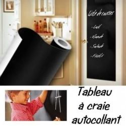 Rouleau Tableau Noir Adhesif Craie Decoupable 45x2