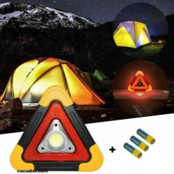 Triangle Securite Led Lumineux Fixe+clignotant+lampe Secours Neuf