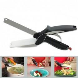 Clever Cutter 2 En 1 Couteau De Cuisine & Planche à Découper Ciseaux De Cuisine En Acier Inoxydable Cutter A...