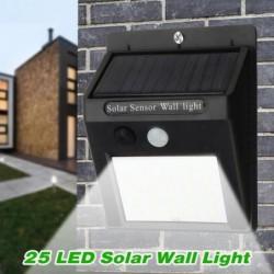 Tempsa 25led Lampe Murale Solaire Exterieur Détecteur De Mouvement + Lumière Faible