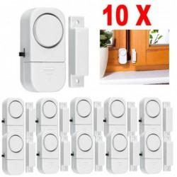 10x Alarme Détecteur Ouverture Door Window Sans Fil Porte Fenêtre Baie Garage Neuf