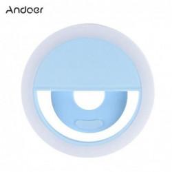 Andoer Mini Clip-on 3 Mode 36 Led Selfie Anneau Lampe Lumière De Remplissage Intégrée Batterie Usb Recharge...