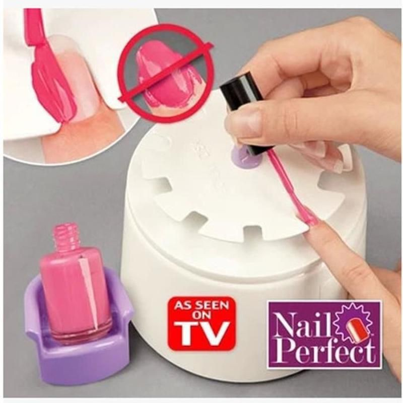 Manucure Home Nail Perfect Salon Appareil Application Vernis à Ongles + Stickers