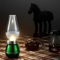 Led Rétro Lampe Créatif Souffler Contrôle Nuit Lampe Lanterne Usb Rechargeable Lampe Led