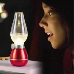Vococal® Rechargeable Portable Led Lampe Veilleuse Avec Soufflage Contrôle Usb Rechargeable Kérosène Huil...