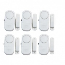Stoex® 6 Ensembles Sécurité Maison Bureau Alarme Capteur Sirène Magnétique Sans Fil