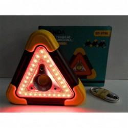 Triangle Automobile Lumineux Fixe Et Clignotant +lampe De Secours