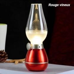 Rétro Nostalgique Lampe à L'huile Touche De Commande Kerosene Lamp Dimmer Usb Rechargeable Lampe Led Rouge V...